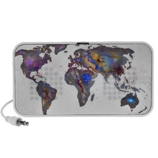 Protagoniza el mapa del mundo altavoces de viaje