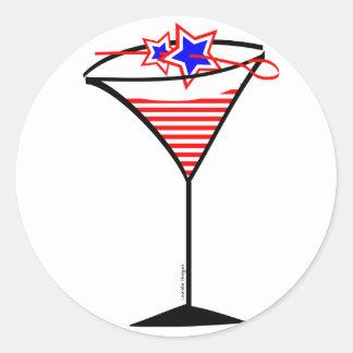 Protagoniza las rayas Martini de n Pegatina Redonda