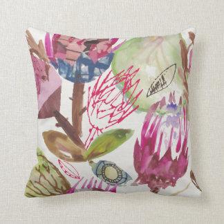 Protea / african pattern / cape town  / fynbos / throw pillow
