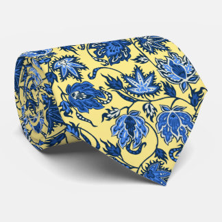 Protea Batik Tropical Print Two-sided Printed Neck Tie
