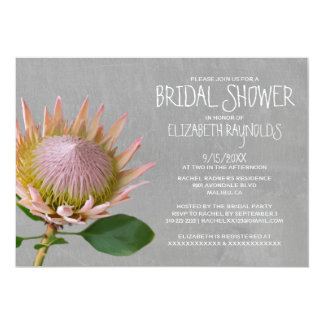 Protea Bridal Shower Invitations