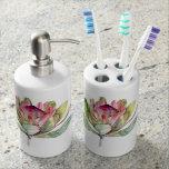 Protea Flower Bathroom Set