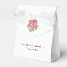 Protea Flower Wedding Favor Box