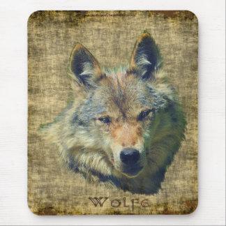 Protección alfa Mousepad de la fauna del lobo gris Alfombrilla De Ratones