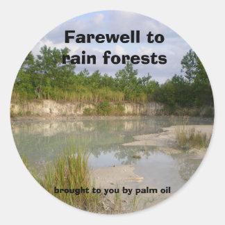Protección ambiental - pegatinas de la selva pegatina redonda