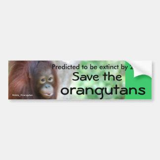 Protección animal de la fauna pegatina para auto