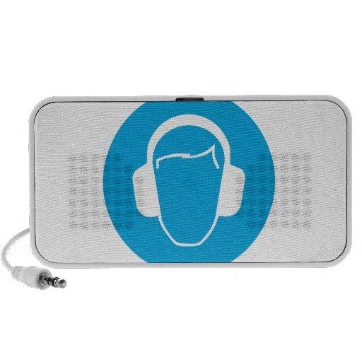 Protección auditiva portátil altavoces