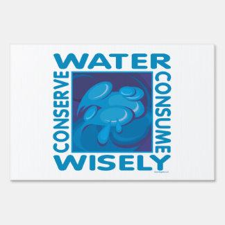 Protección de agua cartel