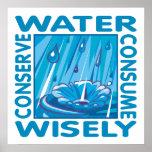 Protección de agua póster