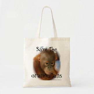 Protección de la fauna del orangután bolsa tela barata