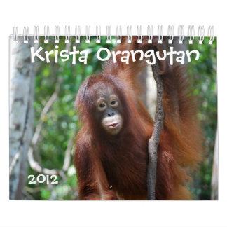 Protección de la fauna del orangután de Krista Calendarios De Pared
