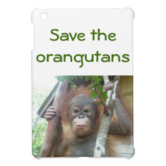 Protección de la fauna del orangután del bebé iPad mini funda