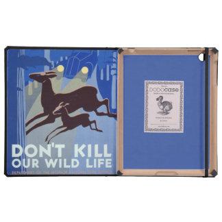 Protección de la fauna del poster de WPA del vinta iPad Cárcasas