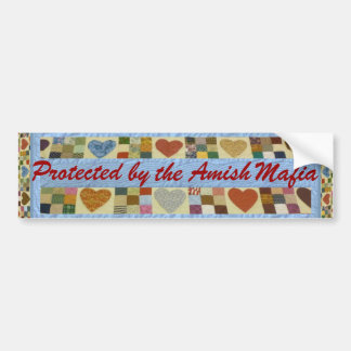¡Protección de la mafia de Amish! ¡Pegatina para e Pegatina De Parachoque