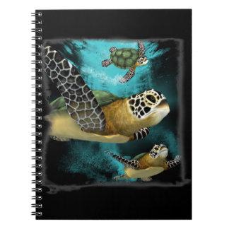 Protección de la vida marina de la tortuga de mar cuaderno