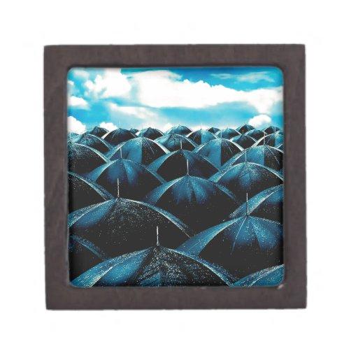 Protección de lluvia diaria abstracta cajas de recuerdo de calidad
