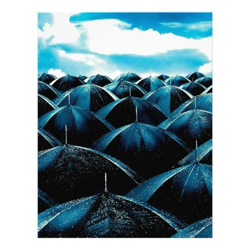 Protección de lluvia diaria abstracta plantilla de membrete