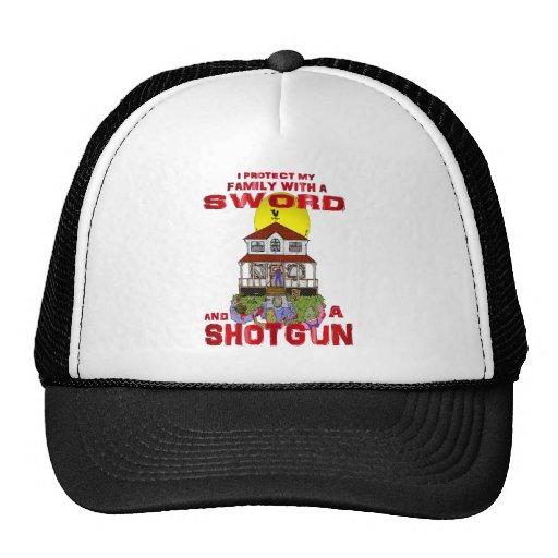 Protección de mi familia contra zombis gorra