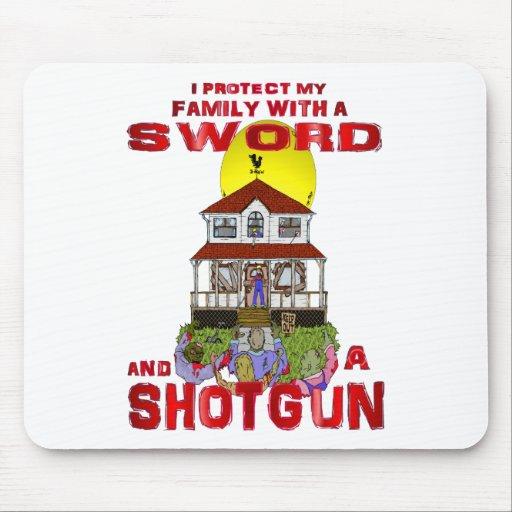 Protección de mi familia contra zombis tapete de raton