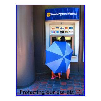 Protección de nuestros activos; -) tarjeta postal