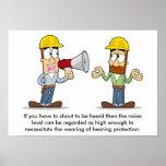 Protección de oído 001 posters