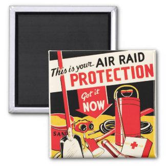Protección del ataque aéreo imán cuadrado