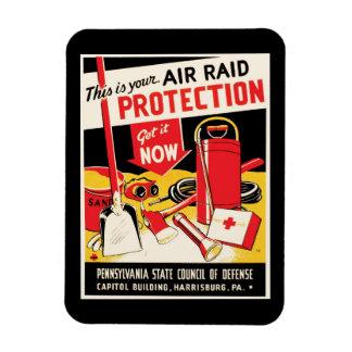 Protección del ataque aéreo rectangle magnet