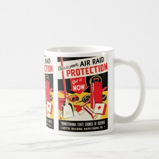 Protección del ataque aéreo taza