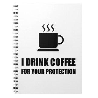 Protección del café spiral notebook