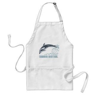 Protección del carbono/salto neutrales del delfín delantal