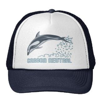 Protección del carbono/salto neutrales del delfín gorros bordados