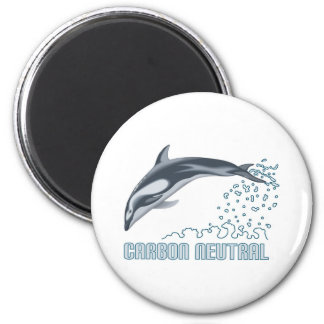 Protección del carbono/salto neutrales del delfín imán redondo 5 cm