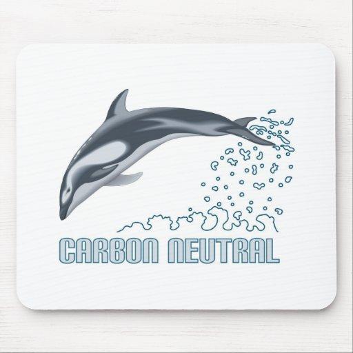 Protección del carbono/salto neutrales del delfín tapete de raton
