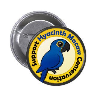 Protección del Macaw del jacinto de la ayuda Pin Redondo De 2 Pulgadas