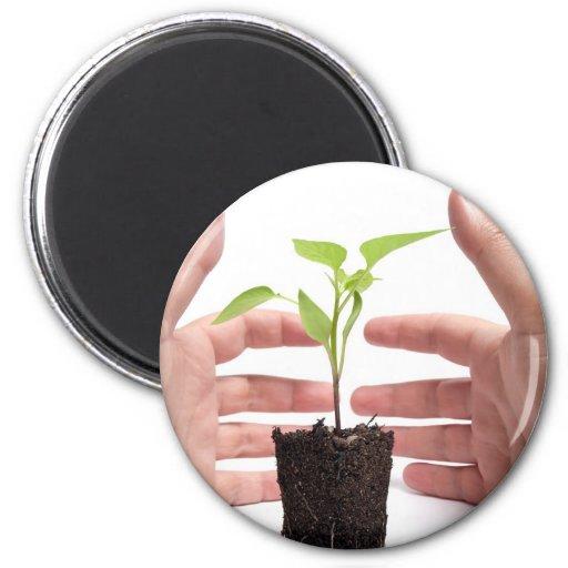 Protección del medio ambiente imán redondo 5 cm