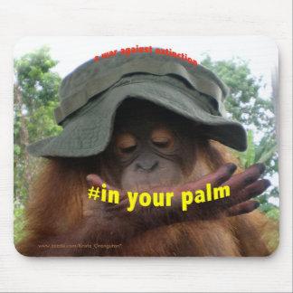 Protección del orangután de la selva tropical del mouse pad