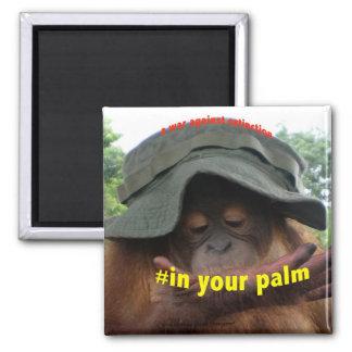 Protección del orangután del aceite de palma iman de frigorífico