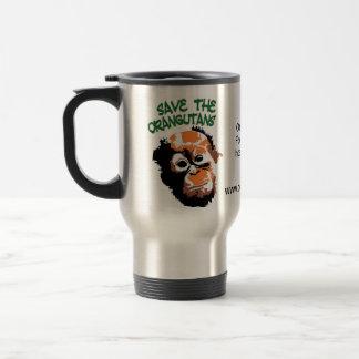 Protección del orangután taza de viaje de acero inoxidable