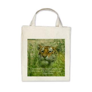 protección del tigre bolsas de mano