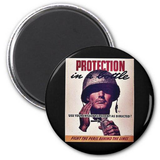 Protección en una batalla iman