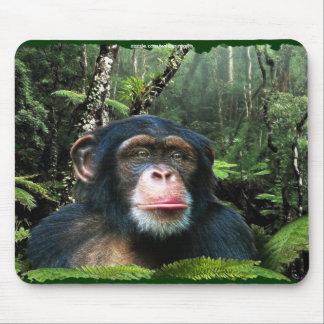Protección Mousepad de la selva tropical del chimp Tapetes De Ratón