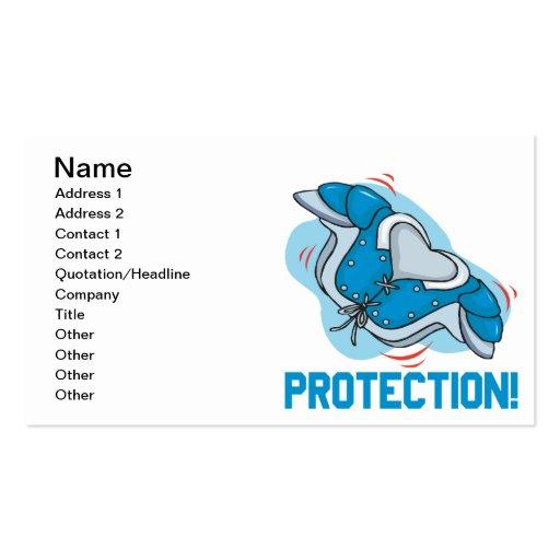 Protección Plantilla De Tarjeta De Negocio
