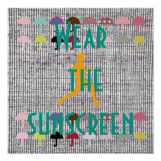 Protección solar de la playa que activa de perfect poster