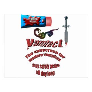 Protección solar del vampiro postales