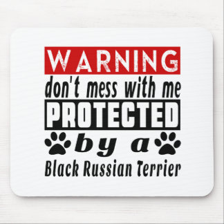 PROTECETED del ruso negro Terrier Mousepad