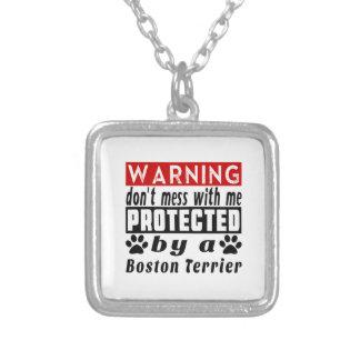 PROTECETED por Boston Terrier Colgante Cuadrado