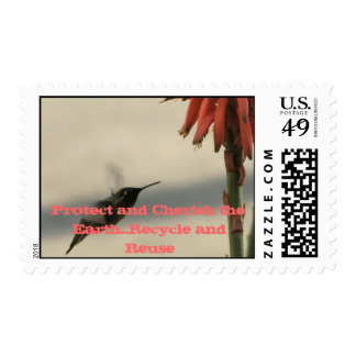 Protect and Cherish the Earth Postage Stamp
