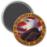 Protect And Defend 3 Inch Round Magnet