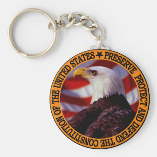 Protect And Defend Keychain