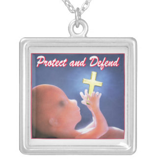 Protect and Defend Square Pendant Necklace